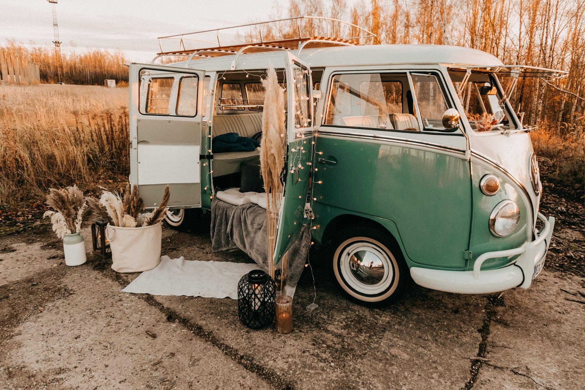 VW Bulli mieten Fotoshooting Geschenk Filmaufnahmen Video Fotograf Kamera Hochzeit